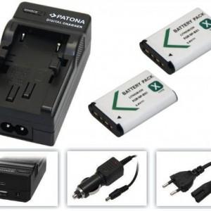3in1-SET-fr-die-Sony-FDR-X1000-4K-Actioncam-2x-Akku-1000mAh-4in1-Ladegert-ua-mit-USB-micro-USB-und-KfzAuto-0