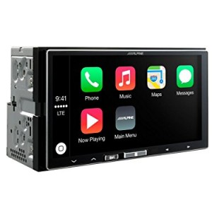 Alpine-iLX-700-Apple-Car-Play-Touchscreen-iPhone-Head-Unit-App-Link-Station-0
