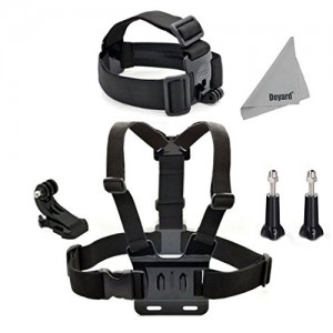 DEYARD-ZG-632-GoPro-Accessories-Kit-Set-of-2-for-GoPro-HD-Hero-1-2-3-3-Head-Strap-Mount-Chest-Harness-J-Hook-Mount-2pcs-Thumbscrews-DEYARD-Superfine-Fiber-Cloth-0