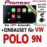 VW-Polo-9N-Pioneer-SPH-DA120-2DIN-USB-Bluetooth-Apple-CarPlay-Autoradio-Einbauset-0
