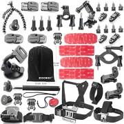 Zookki-46-in-1-GoPro-Zubehr-Kit-GoPro-Zubehr-Set-GoPro-Zubehr-Bundle-Kit-Outdoor-Sports-Zubehr-Kit-Kamera-Zubehr-Kit-Kamera-Zubehr-Set-fr-GoPro-4-GoPro-Hero-4-Silber-Gopro-Hero-4-Schwarz-GoPro-Hero-3–0