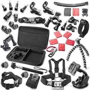 Zookki-Erforderlich-GoPro-Zubehr-Bundle-Kit-GoPro-Zubehr-Kit-GoPro-Zubehr-Set-Outdoor-Sports-Zubehr-Kit-Kamera-Zubehr-Kit-Kamera-Zubehr-Set-fr-GoPro-4-GoPro-Hero-4-Silber-Gopro-Hero-4-Schwarz-GoPro-He-0