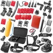 Zookki-Erforderlich-GoPro-Zubehr-Kit-GoPro-Zubehr-Bundle-Kit-GoPro-Zubehr-Set-Outdoor-Sports-Zubehr-Kit-Kamera-Zubehr-Kit-Kamera-Zubehr-Set-fr-GoPro-4-GoPro-Hero-4-Silber-Schwarz-Gopro-Hero4-Zubehr-Go-0