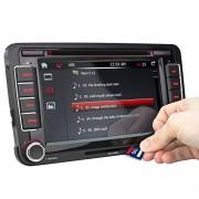 XOMAX-XM-VW04-Autoradio-fr-Volkswagen-SKODA-SEAT-Moniceiver-Naviceiver-mit-GPS-Navigation-NAVI-Software-Polnav-Car-Navigator-6-inkl-Europa-Karten-50-Lnder-Bluetooth-Freisprechfunktion-18-cm-7-Zoll-0-6